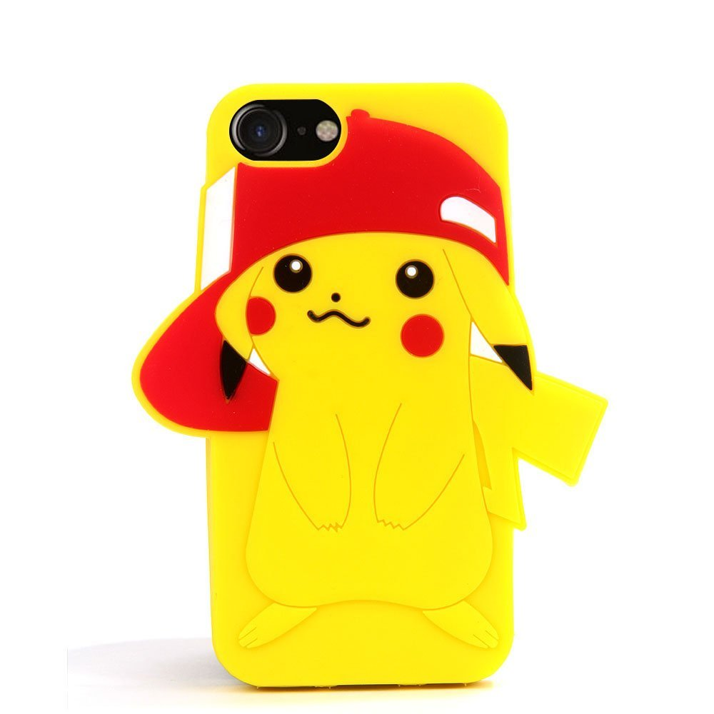 ddd8199b33 3D Pikachu Go Silicone Back Case for Apple iPhone 7 Cute and Protective