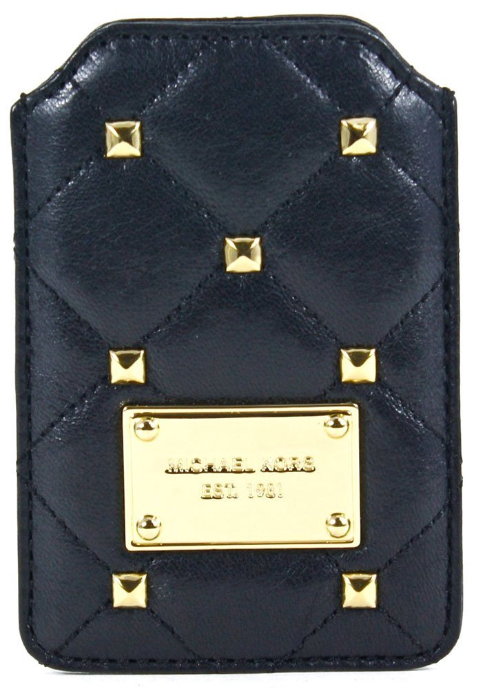 4a125e1d5c4032 Michael Kors Quilted Studs Leather Phone Case in Black. Dreem iPhone 6  Wallet ...